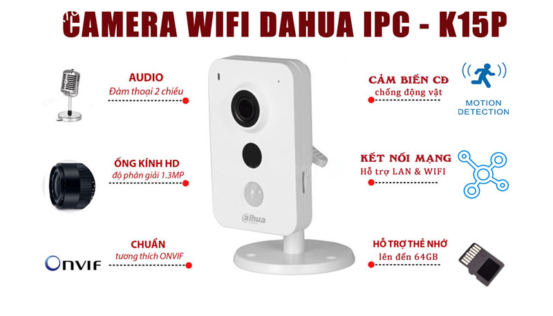 Camera Wifi Dahua IPC-K15P